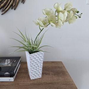 Artificial Orchids in Vase